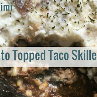 Potato Topped Taco Skillet Pie