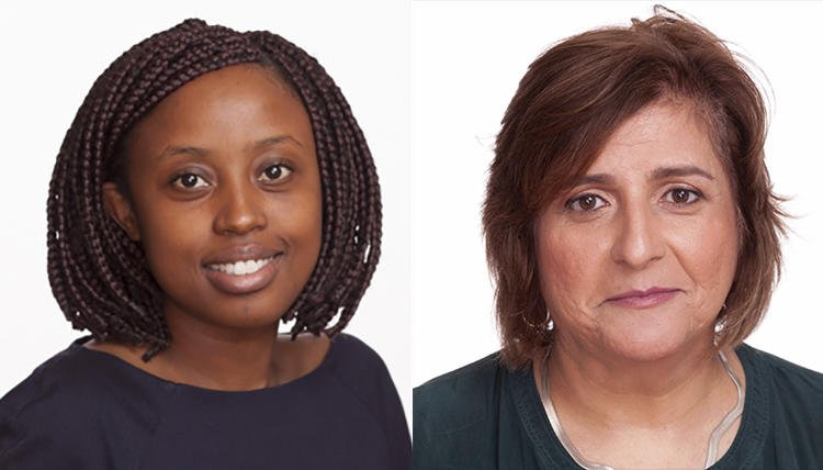 Tanzanian immigration authorities detained Committee to Protect Journalists CPJ Sub-Saharan Africa Representative Muthoki Mumo, left, and Africa Program Coordinator Angela Quintal in Dar es Salaam on November 7.