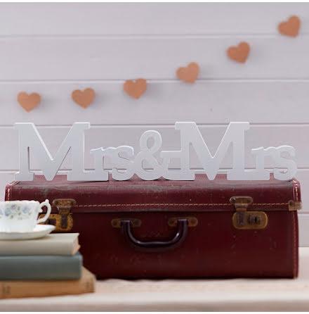 Mrs & Mrs träbokstäver A Vintage Affair