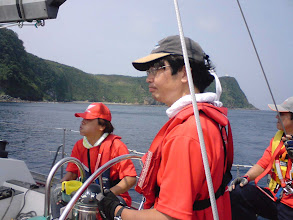 Photo: 2日目。スタートラインの大島岡田港に向けて回航中