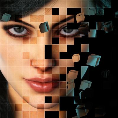 Face Shattering Effect - screenshot