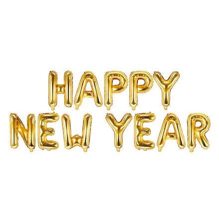 Folieballonger - Happy new year