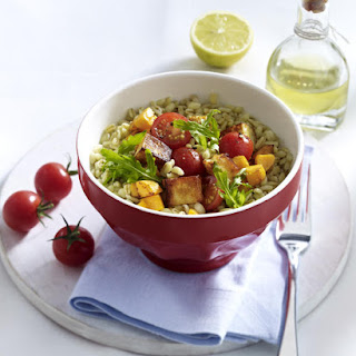 Halloumi and Bulgur Wheat Salad.