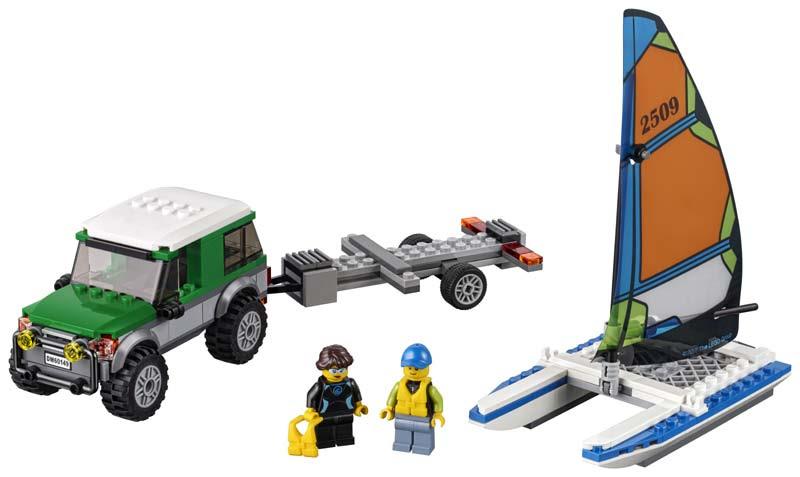 Contenido de Lego® 60149 4 x 4 con Catamarán