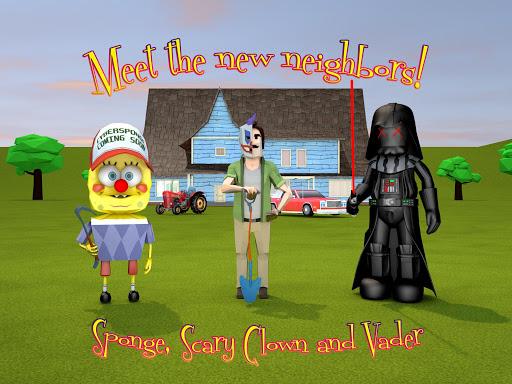 Scary Clown Sponge Vader Neighbor. Escape apkdebit screenshots 9