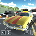 Polygon Traffic Racer 3D: Highspeed Highway Games icon