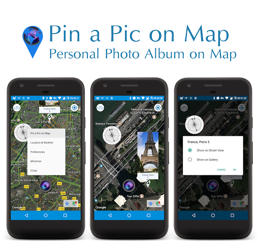 Pin a Pic on Map | Compass, Map & Camera screenshot 1