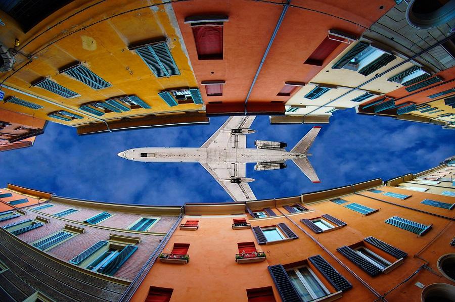 Flying through clouds and windows by Trefla Cata - Transportation Airplanes ( aviation, sky, blue, aeroplane, aircraft, windows, sony a57, trefla, jet )