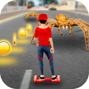 Hoverboard Racing Spider Attack