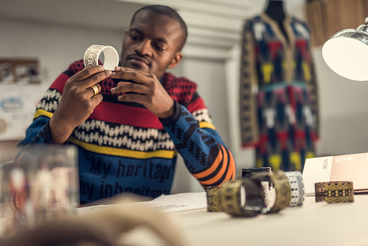 Sanlam has teamed up with award-winning designer Laduma Ngxokolo of Maxhosa to create the stylish cuff