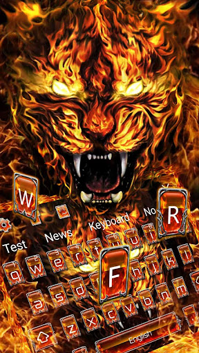 Grim Fire Tiger Keyboard Theme 10001003 screenshots 1