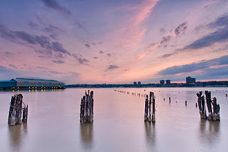 Photo: All in a Row - New York, NY   #sunsetphotography  #longexposure