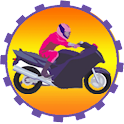 Motorbike Driving Circle Wheel icon