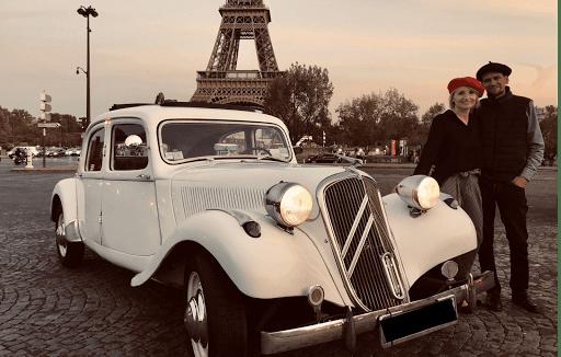 Découvrir paris by night en voiture de collection