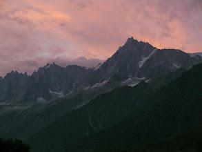 Photo: Les Houches, Masyw Mont Blanc, Alpy Francuskie - widok na Aiguilles de Chamonix i Aiguille du Midi