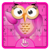 3D Owl Keyboard Theme