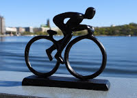 Cyklist - metallfigur