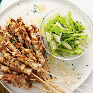 Chicken Skewers With Celery And Preserved Lemon Salad