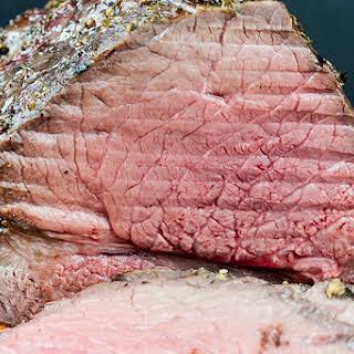 Garlic Herb Beef Top Round Roast.