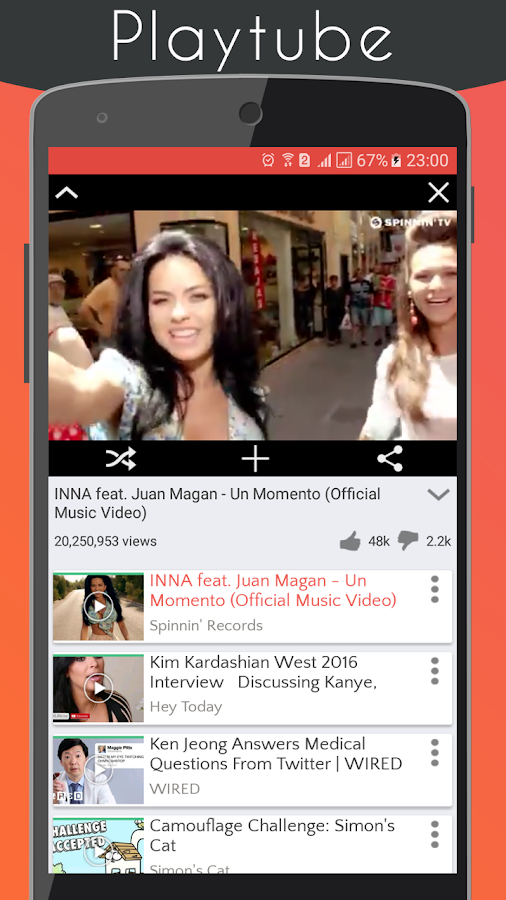 Screenshots of PlayTube for YouTube free for iPhone