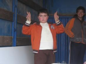 Photo: Pedro Moreno Junior, el mas joven de la patrulla.