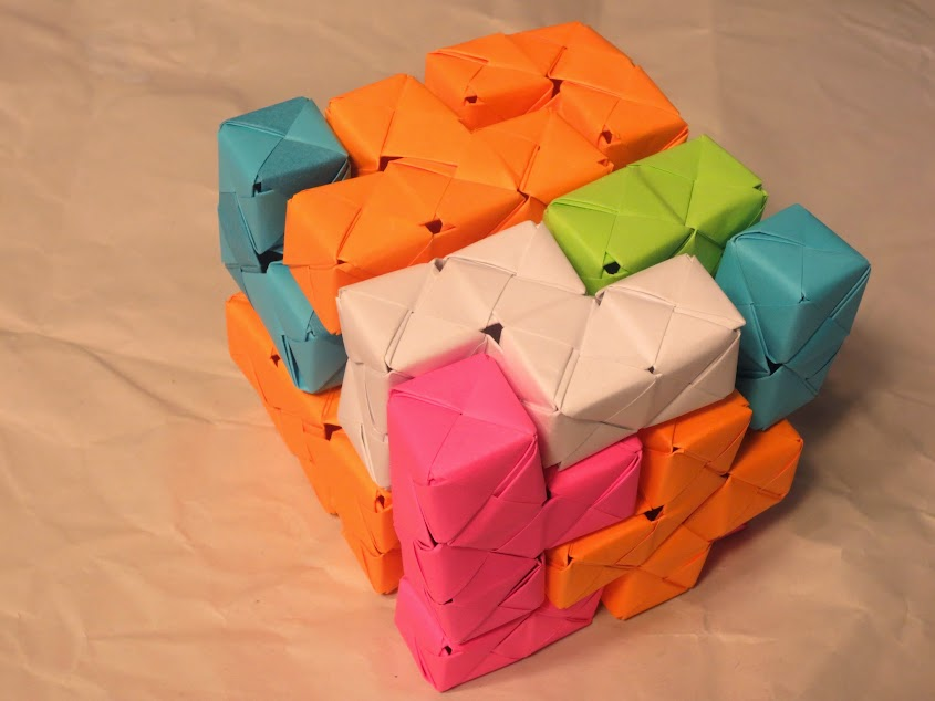 modular origami bedlam cube
