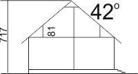 Domek Topolowy szkielet drewniany - Przekrój