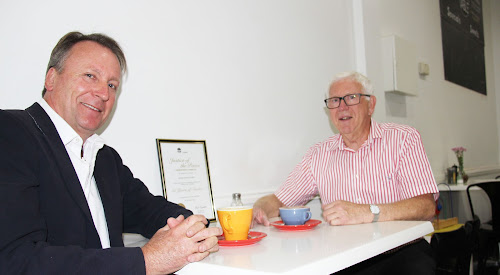 A JOB WELL DONE: State Member for Barwon Kevin Humphries presents Narrabri JP Hugh Palmer with a certificate of thanks from the state government for Mr Palmer's 50 years' service as a Justice of the Peace.