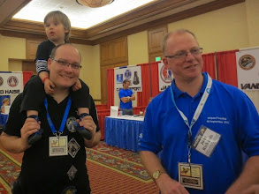 Photo: Eico with Lightspeed Leo, and John... both come all the way from Germany & Wales!