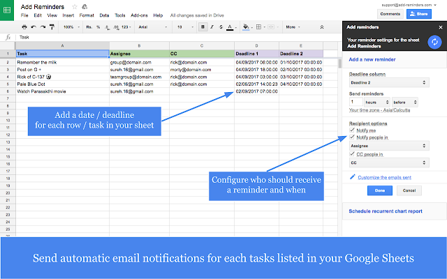 Add Reminders - G Suite Marketplace