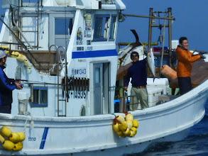 Photo: うおー!しかもいいサイズのカンパチ釣ってるし! T内さんに野Dさんにk下さんが乗船されてるみたいで・・・。その後もうちのすぐそばでネリゴ、ブリ釣って行きました。