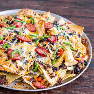 Spicy Beef And Cheese Nachos
