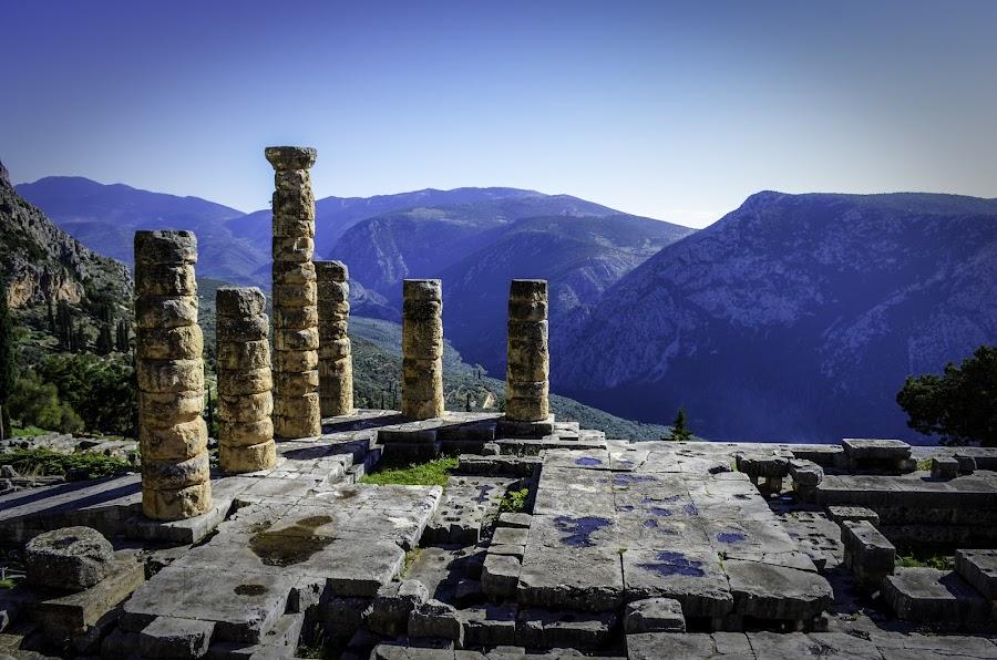 Delfi by Marek Servatka - Travel Locations Landmarks ( historical place, outdoor, greece, delfi, museum, templ )