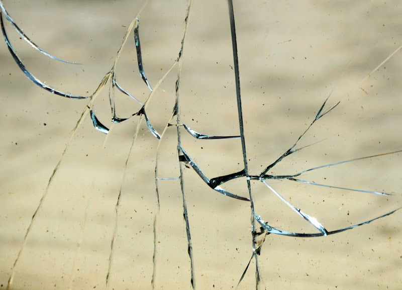 Il vetro rotto di clic