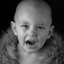 Warrior by Cameron  Cleland - Babies & Children Child Portraits ( head, winter, black and white, canon )