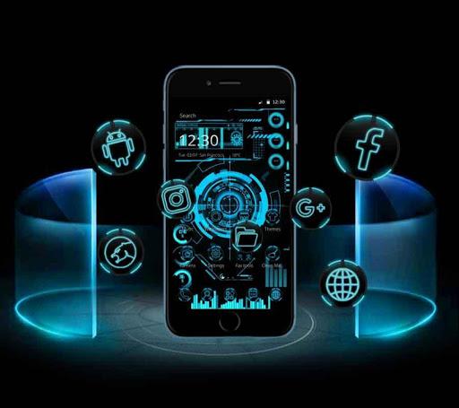 Technology Neon Blue 1.1.8 screenshots 1