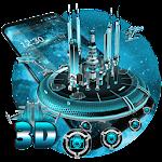 3D Space Galaxy Theme Icon