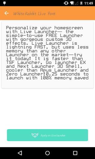 Comic font 2 - Live Launcher