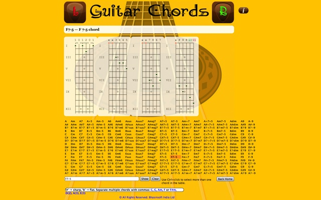 Guitar Chords - Chrome Web Store