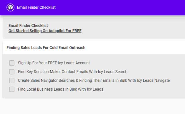 Email Finder Checklist