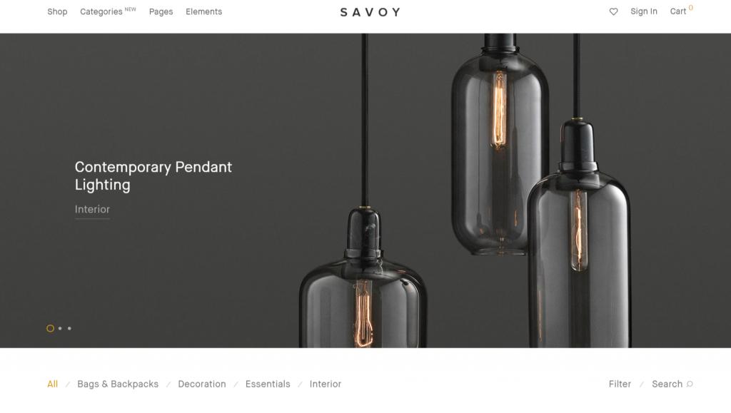 template de loja virtual Savoy