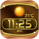 Gold Weather Clock Widget Icon