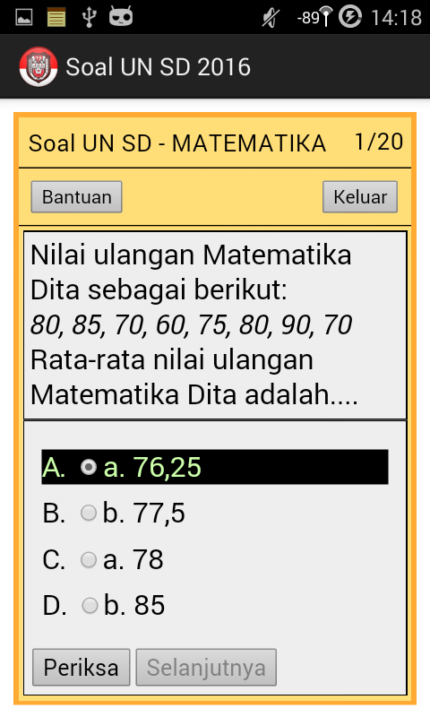 Soal Un Sd Unbk Android Apps On Google Play