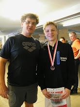 Photo: Zimowe Mistrzostwa Polski Juniorów 15 letnich - Tomasz Bocheń dwa brązowe medale z trenerem A. Mackiewiczem