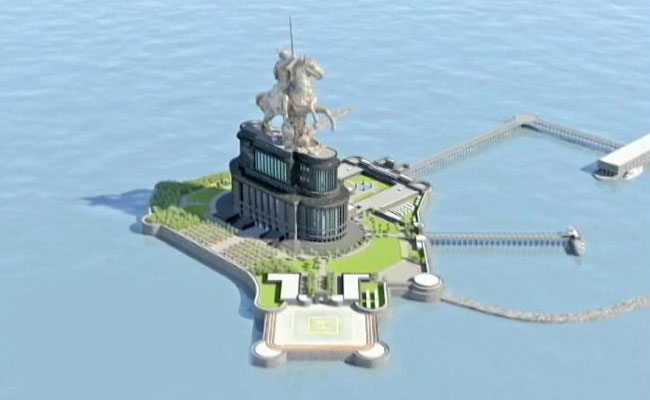 Maharashtra's Shivaji Memorial Grows Taller To Top Buddha Statue In China