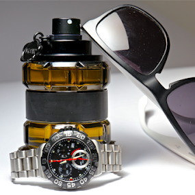 by Felice Bellini - Artistic Objects Still Life ( glasses, watch, perfume,  )