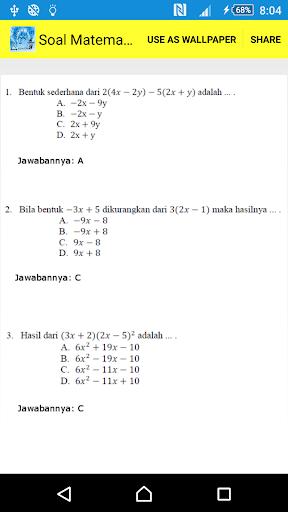 Persiapan UTS Matematika 2 SMP
