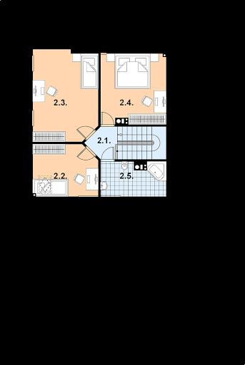 A-101 z bali - Rzut poddasza