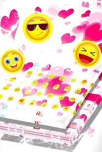 Keyboard Pink Love - náhled