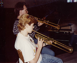 Photo: March 1994; Philipus Jacobus Rittler Missa Carolina à 24 from 1675 in its first modern performance. Julie Nease and Darin Obrecht, natural trumpets.